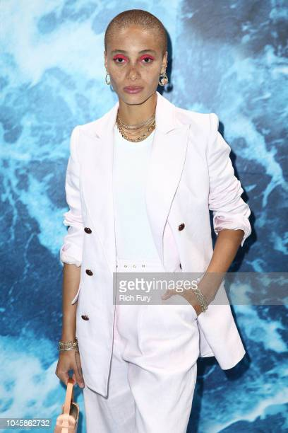 Adwoa Aboah attends the 'UGG 40 Years' Anniversary Celebration at Chateau Marmont on October 4 2018 in Los Angeles California