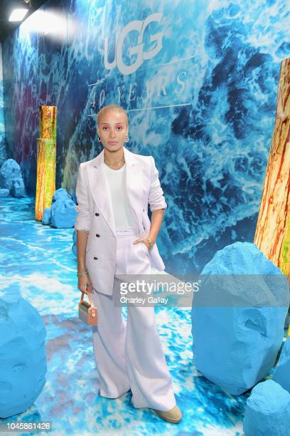 Adwoa Aboah attends UGG Celebrates 40 Years at Chateau Marmont on October 4 2018 in Los Angeles California