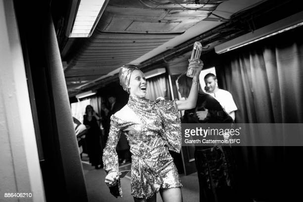 Adwoa Aboah is seen backstage during The Fashion Awards 2017 in partnership with Swarovski at Royal Albert Hall on December 4 2017 in London England
