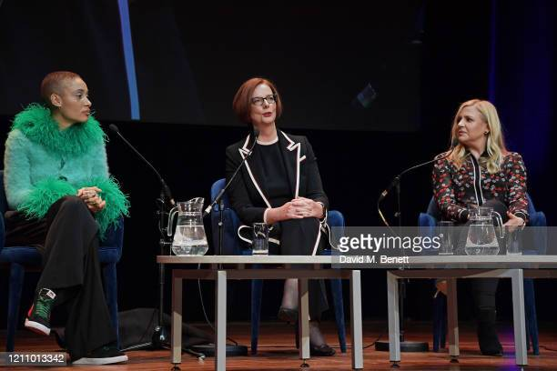 Adwoa Aboah Julia Gillard and Michelle Roberts attend British Vogue's Forces For Change during the WOW Women Of The World Festival at Southbank...