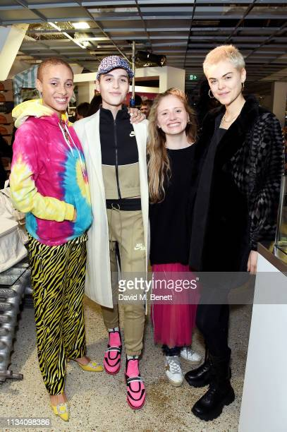 Adwoa Aboah Maxim Magnus guest and Anna Rubin attend the Gurls Talk x Barbie event hosted by Adwoa Aboah celebrating their collaboration at Dover...