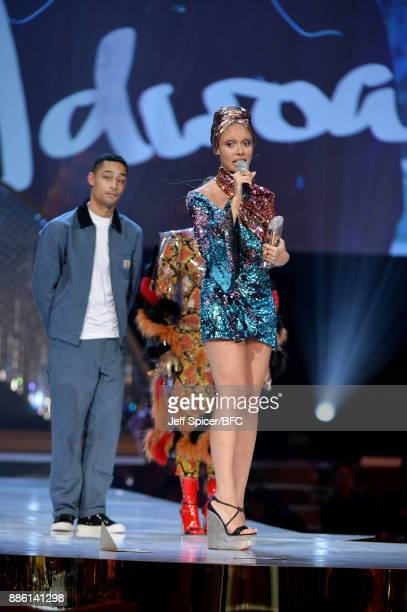Adwoa Aboah onstage during The Fashion Awards 2017 in partnership with Swarovski at Royal Albert Hall on December 4 2017 in London England