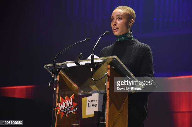 Adwoa Aboah performs during Letters Live at WOW Women Of The World Festival at Southbank Centre on March 8 2020 in London England