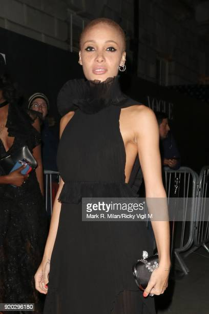 Adwoa Aboah seen at the Vogue and Tiffany Co party at Annabel's club after attending the EE British Academy Film Awards at the Royal Albert Hall on...