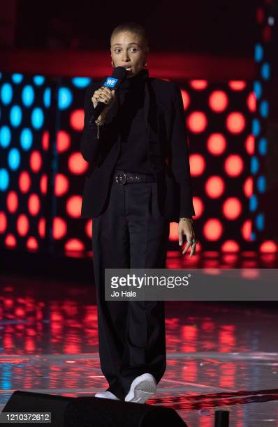 Adwoa Aboah speaks on stage at WE Day UK 2020 at The SSE Arena Wembley on March 04 2020 in London England