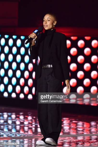 Adwoa Aboah speaks on stage during WE Day UK 2020 at The SSE Arena Wembley on March 04 2020 in London England
