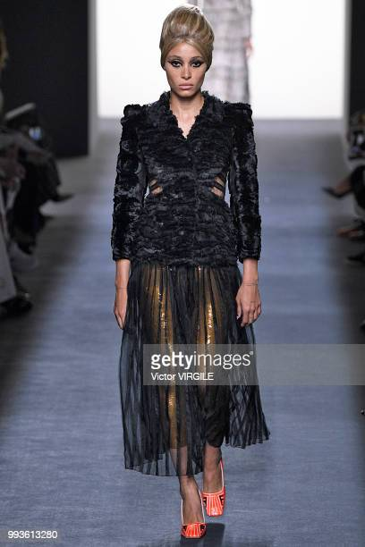 Adwoa Aboah walks the runway during the Fendi Couture Haute Couture Fall Winter 2018/2019 fashion show as part of Paris Fashion Week on July 4 2018...