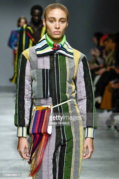 Adwoa Aboah walks the runway during the Kenneth Ize Ready to Wear fashion show as part of the Paris Fashion Week Womenswear Fall/Winter 2020/2021 on...
