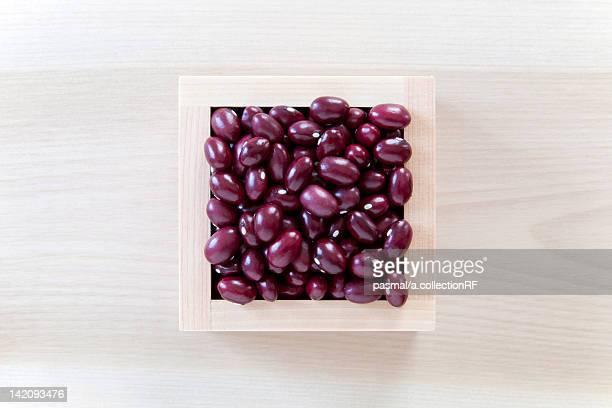 Adzuki beans cooked with sugar