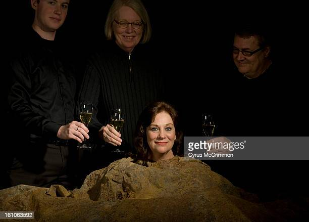 AE28THOVATIONS_cm Wendy Ishii founder of Bas Bleu Theatre was named Colorado Theater person of the year Ishii was buried up to her neck from set of...