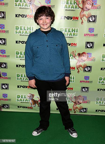 Aedin Mincks attends 'Delhi Safari' Los Angeles premiere at Pacific Theatre at The Grove on December 3 2012 in Los Angeles California