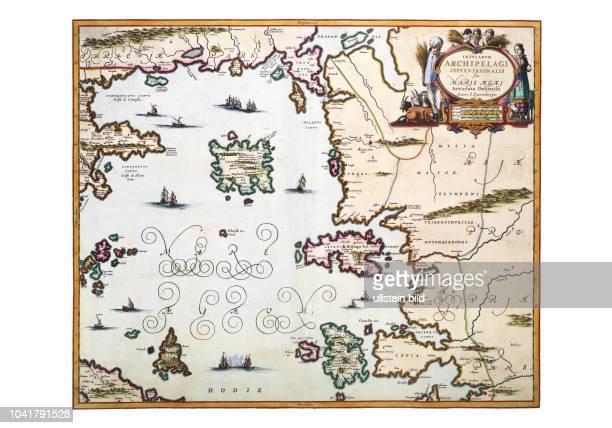 AegaeisNord 1654 Aus dem Atlas Maior von Joan Blaeu Er erschien in mehreren Sprachausgaben zwischen 1665 und 1672 Wie andere Verleger hat Blaeu...