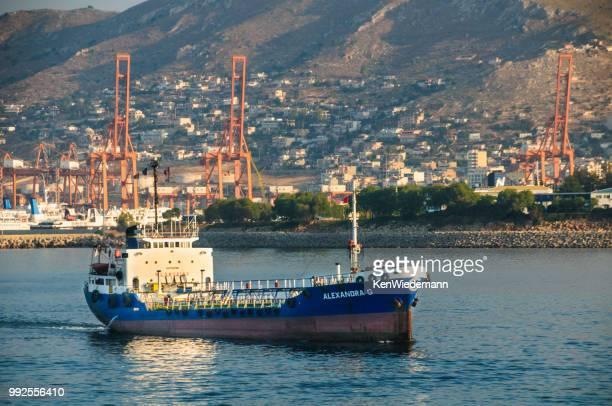 aegean shipping poet-athens - piraeus stock photos and pictures