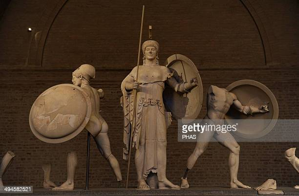 Aegina West Pediment 500490 BC Gods in battle before Troy in the presence of the goddess Athena Detail of Athena Ajax and a trojan warrior Late...