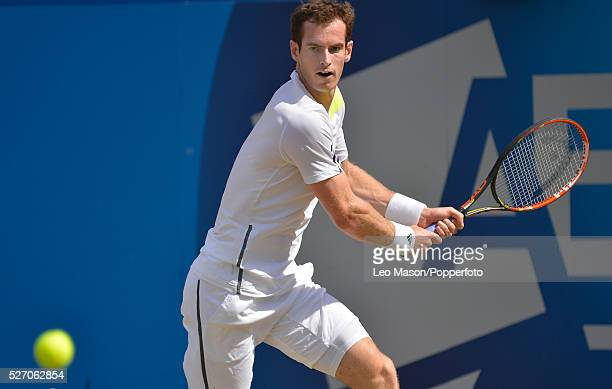 Aegon Queens Tennis Championships at Queens Club London UK Andy Murray v Radek Stepanek in 3rd round match Murray in action during the match