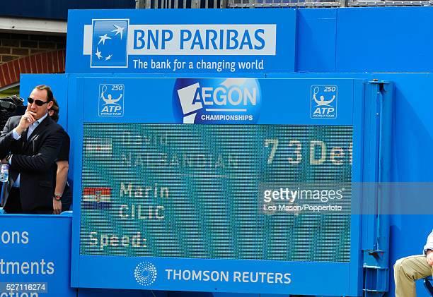 Aegon Tennis Championships Queens Club London UK Final Marin Cilic CRO vs David Nalbandian ARG
