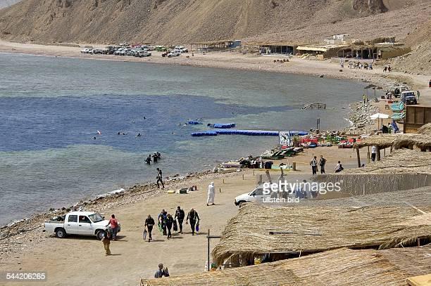 """Aegypten, Sinai, nördlich von Dahab - der Taucherspot """"Blue Hole"""""""