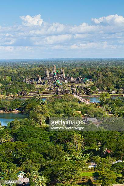 aeiral views of the angkor wat temples. - アンコールワット ストックフォトと画像