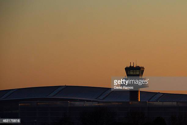 Aena operated Barcelona El Prat International Airport is seen at sunrise on February 10 2015 in Barcelona Spain Shares in statecontrolled Spanish...