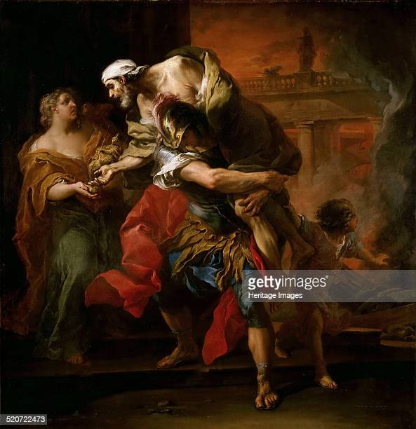 Aeneas Carrying Anchises Found in the collection of Louvre Paris