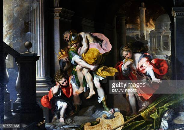 Aeneas' flight from Troy painting by Federico Barocci oil on canvas 179x253 cm Italy 16th century Rome Galleria Borghese