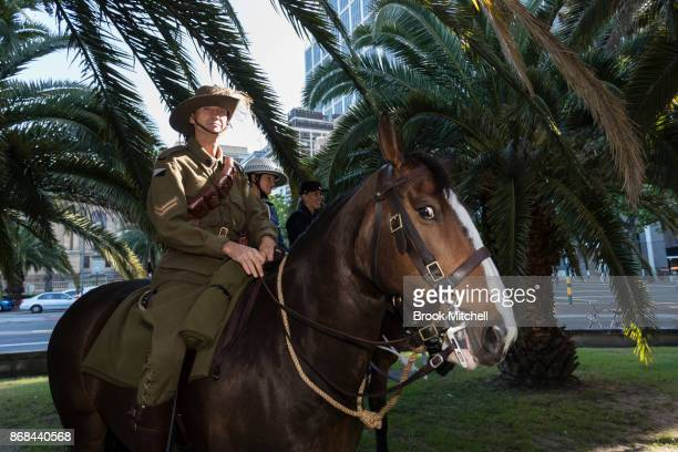 Aenior constable Lovette is pictured during commemorations for the centenary of the Australian Light Horse Charge at the Battle of Beersheba on...