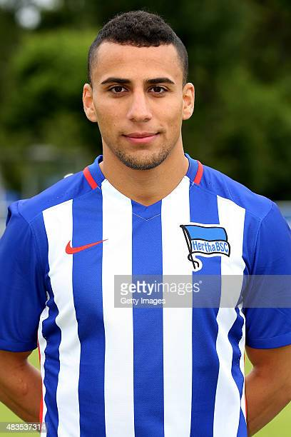 Aenis BenHatira poses during the Hertha BSC team presentation on July 10 2015 in Berlin Germany Images/Bongarts/Getty Images