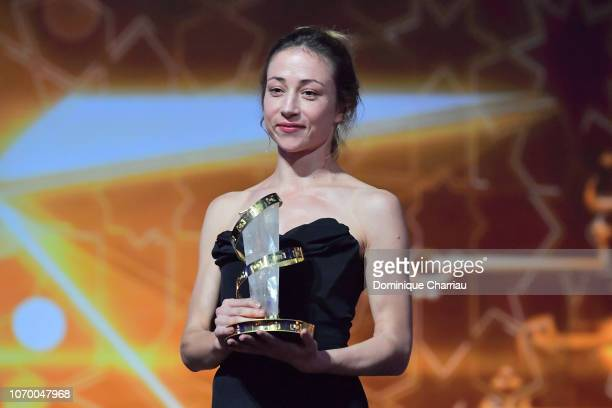 Aenne Schwarz Winner of best performance by an actress attend the closing ceremony of the 17th Marrakech International Film Festival on December 8...