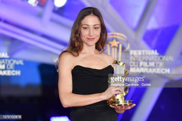 Aenne Schwarz Winner of best performance by an actress attends the Closing Ceremony of the 17th Marrakech International Film Festival on December 8...