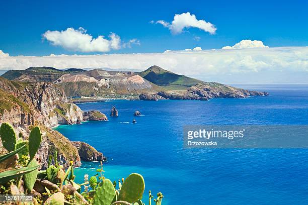aeolian islands - sicily stock pictures, royalty-free photos & images