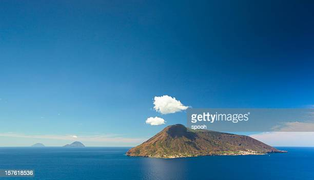 aeolian islands - volcanic terrain stock photos and pictures