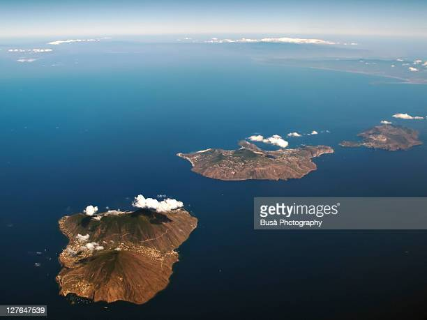 aeolian islands, salina, lipari and vulcano - aeolian islands stock pictures, royalty-free photos & images