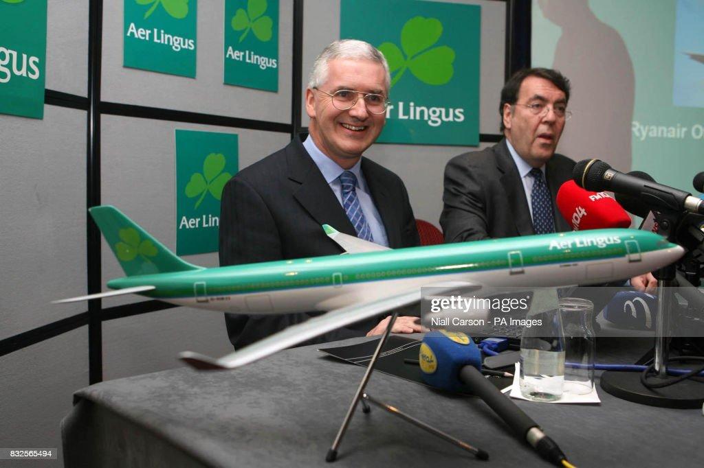 Aer Lingus Ceo Dermott Manion Left And Chairman John Sharman Right