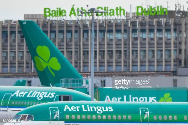 Aer Lingus planes at Dublin airport On Thursday 14 December 2017 in Dublin Ireland