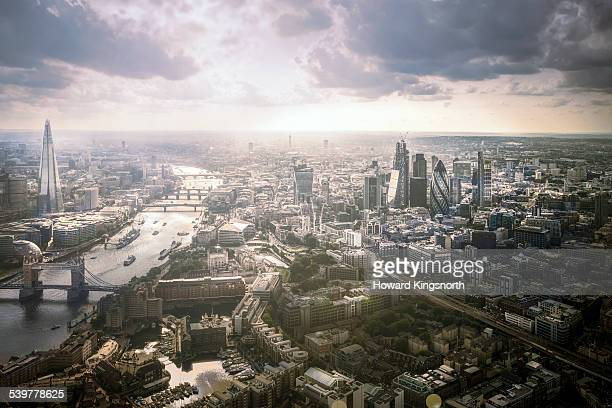 Aeral view of London from the East