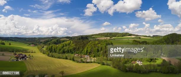 Luftaufnahme Bild einer bayerischen Landschaft