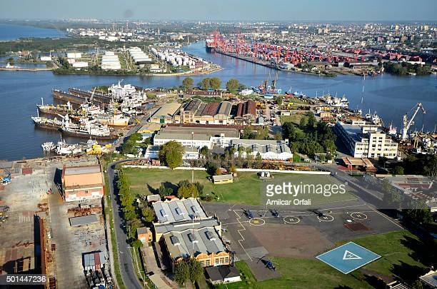 Aereal view of Demarchi Island on May 05 2013 in Buenos Aires Argentina President of Argentina Cristina Fernandez de Kirchner announced on September...