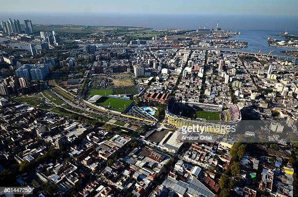 Aereal view of La Boca neighborhood on May 05 2013 in Buenos Aires Argentina President of Argentina Cristina Fernandez de Kirchner announced on...