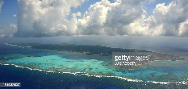 Aereal view of San Andres Island Colombia on September 5 2013 Nicaragua has launched legal action against Colombia in the International Court of...