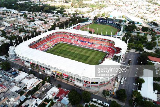 Aereal view of Victoria Stadium prior the 1st round match between Necaxa v Santos Laguna as part of the Torneo Grita Mexico A21 Liga MX at Victoria...