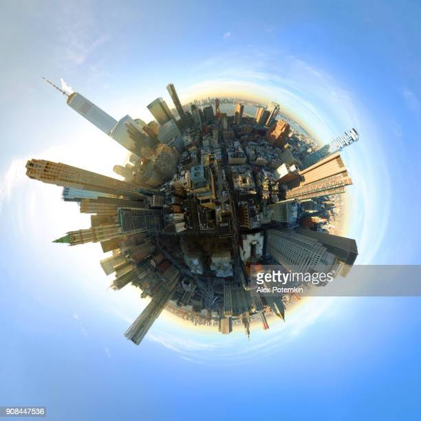 Aerial 360 Degree Panoramic of Manhattan