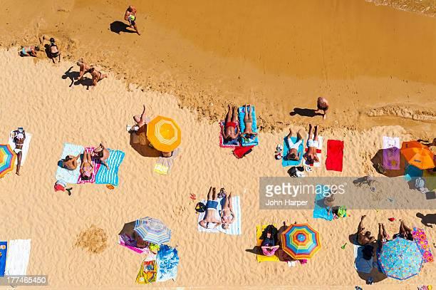 Aerial, Albufeira Beach, Algarve, Portugal