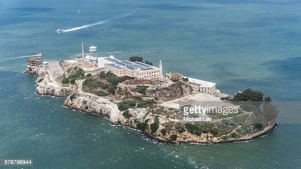Aerial Alcatraz Island - San Francisco