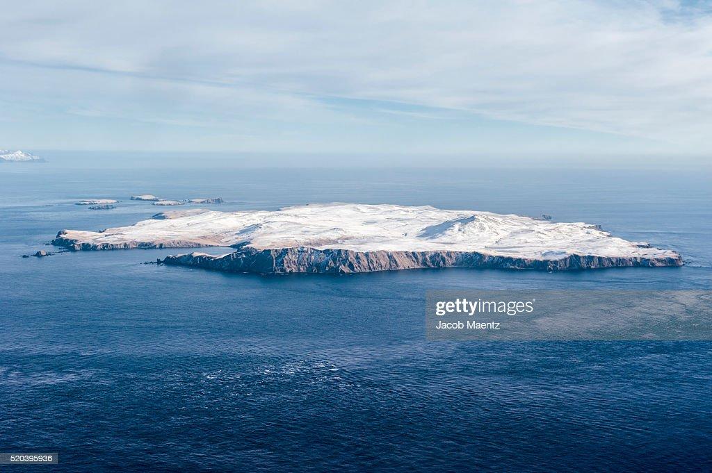 Aerial - Aleutian Islands : Stock Photo