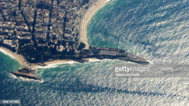 Aerial Arpoador and Copacabana Fort