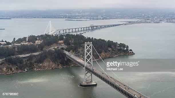 Aerial Bay Bridge - San Francisco