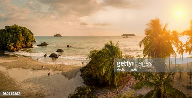 Aerial - Beach at Corcovado National Park, Costa Rica