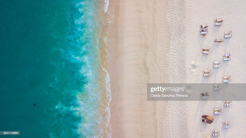 Aerial beach view : Foto stock