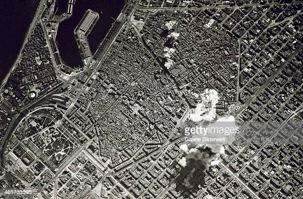 Aerial bombing of Barcelona by Franco's Nationalist Air Force 17th March 1938 Most of the bombers came from the Aviazione Legionaria Italiana German...