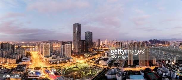 Aerial cityscape of Fuzhou, China